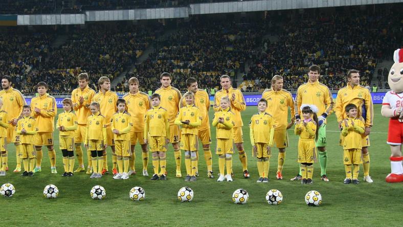 Reprezentacja Ukrainy przed meczem towarzyskim z Niemcami