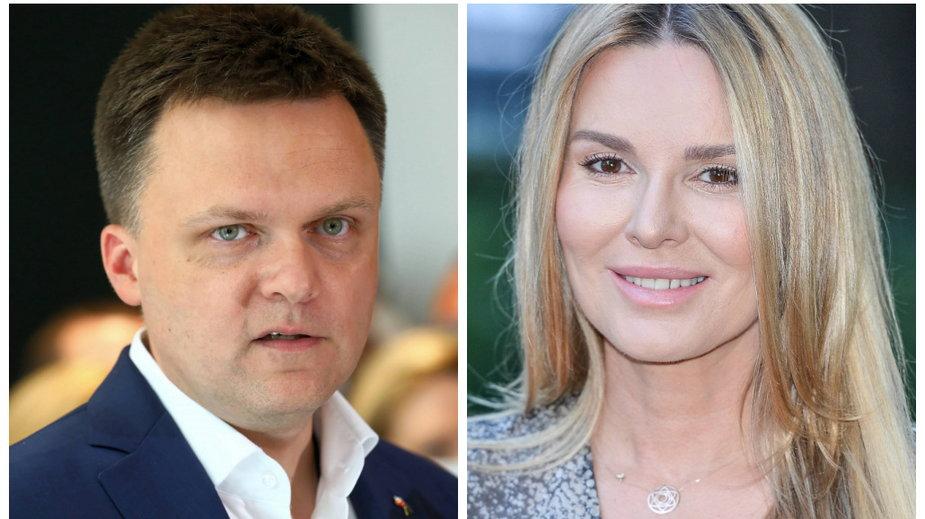 Szymon Hołownia i Hanna Lis