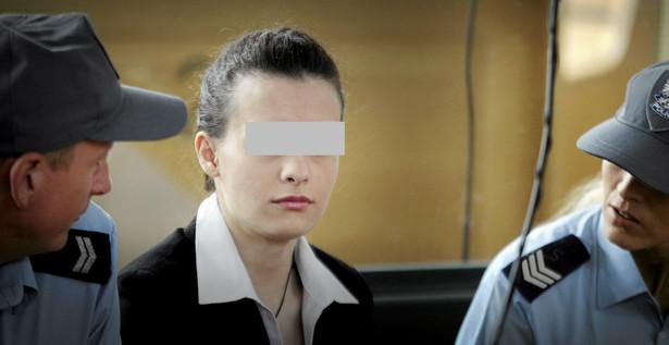 Katarzyna W. podczas ostatniego dnia procesu.