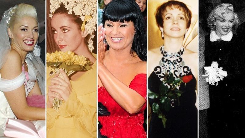 Kolorowe suknie ślubne: Gwen Stefani, Elizabeth Taylor, Iwona Pavlović, Weronika Marczuk i Marilyn Monroe