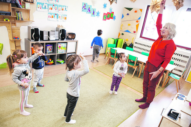 Kod dece ovog uzrasta radi se na koordinaciji pokreta i disanja
