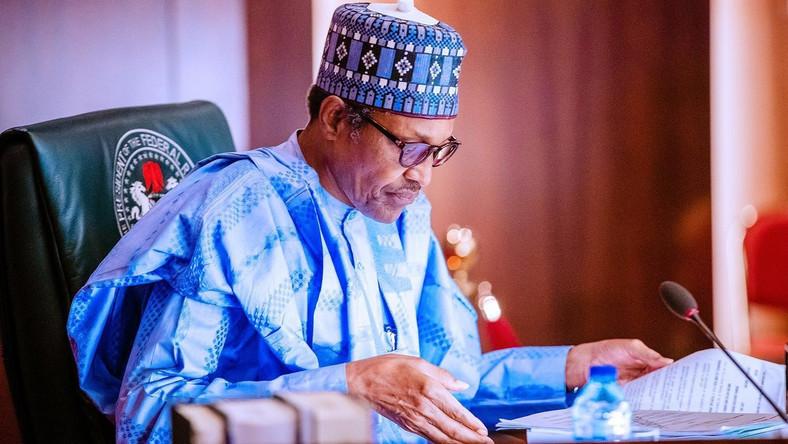 President Muhammadu Buhari. [Twitter/@BashirAhmaad]