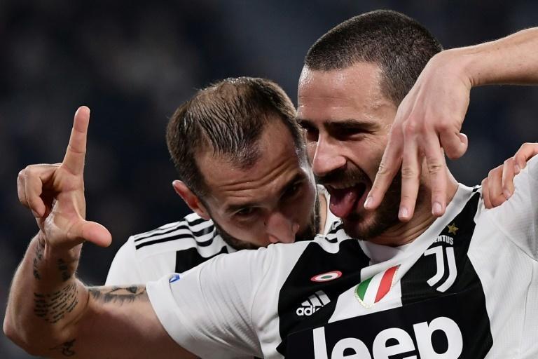 Defensive duo Leonardo Bonucci (R) and Giorgio Chiellini's (L) return from injury gives Juventus a boost ahead of the Champions League
