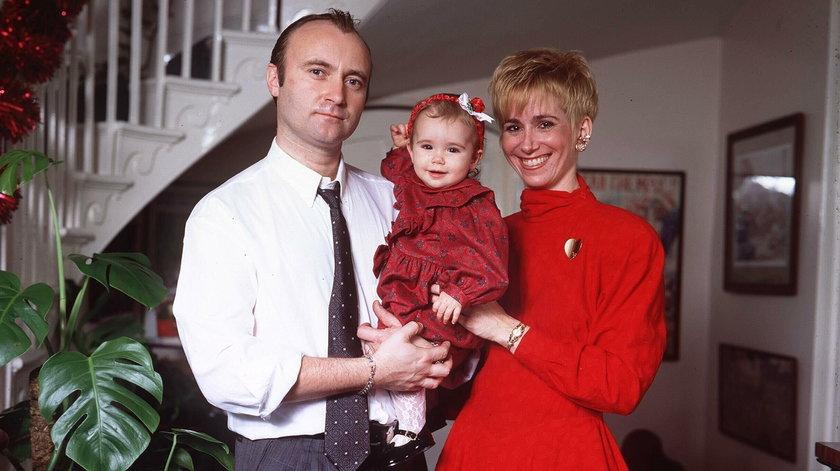 Phil Collins z Lily i jej matką