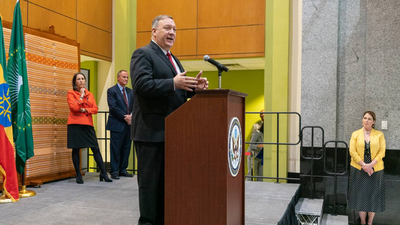 Mike Pompeo comes bearing 'gifts' for the horn of Africa and opens $8M kitty to aid in containing out of control locusts