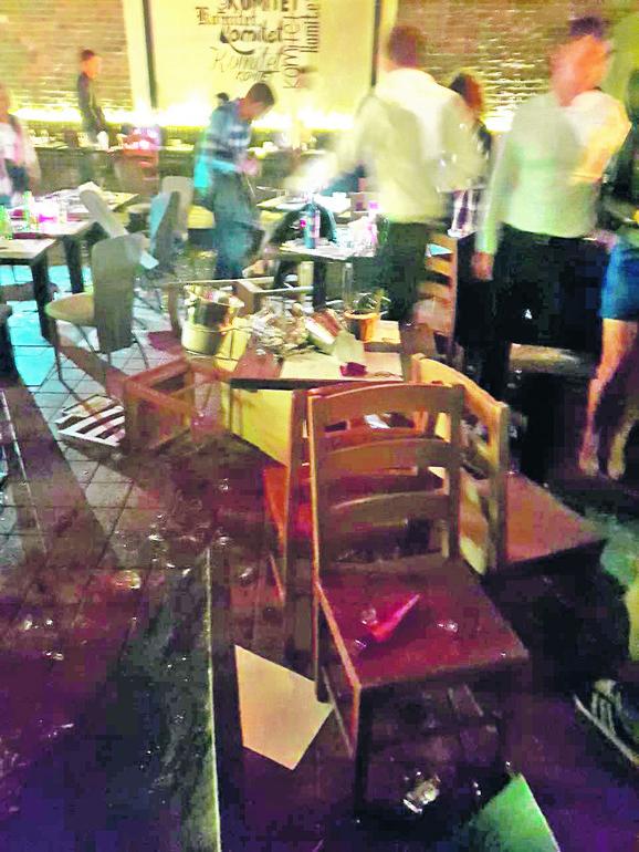 Huligani su demolirali ceo klub i tukli nedužne goste