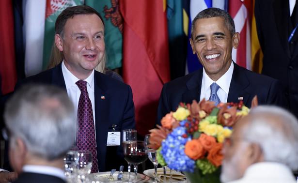 Andrzej Duda i Barack Obama w ONZ