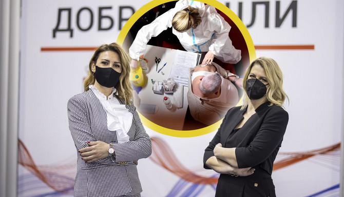 """Ana Petrović i Marija Nikšić za """"Ženu"""" o vakcinaciji na Beogradskom sajmu vakcinacija"""