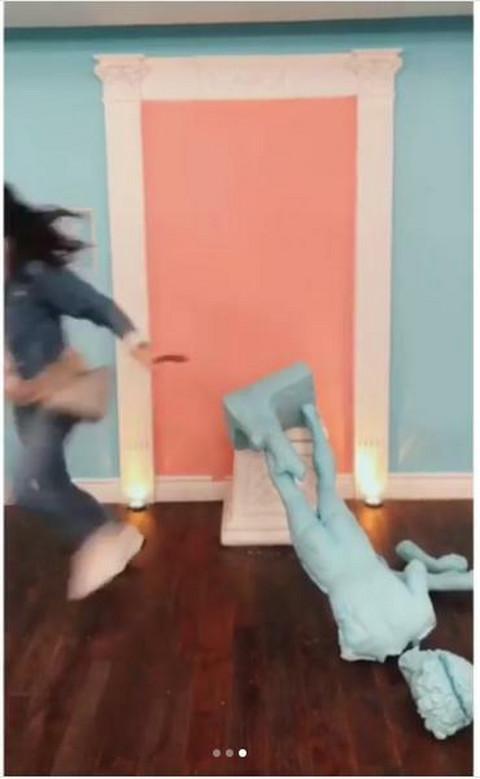 Trudna Jelisaveta Orašanin napravila haos u američkom muzeju! Video