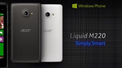 Acer stellt Liquid M220 vor: Windows Phone für 80 Euro