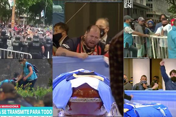 (UŽIVO) NOVI HAOS NA ISPRAĆAJU MARADONE Predsednik Argentine prišao kovčegu i napravio POTEZ zbog kog je narod pobesneo, policija jedva kontroliše UPLAKANU MASU (VIDEO)
