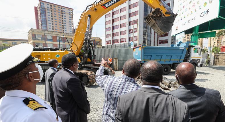 President Uhuru Kenyatta commissions the construction of Kenya's next tallest building G47 Ugatuzi Towers in Nairobi's Hurlingham area