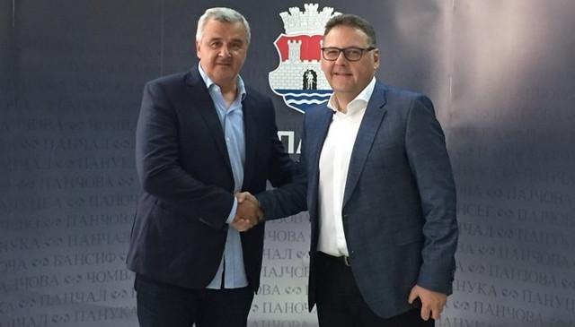 Božidar Đurkovic i Saša Pavlov, gradonačelnik Pančeva