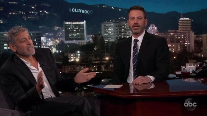 Džordž Kluni u emisiji Džimija Kimela
