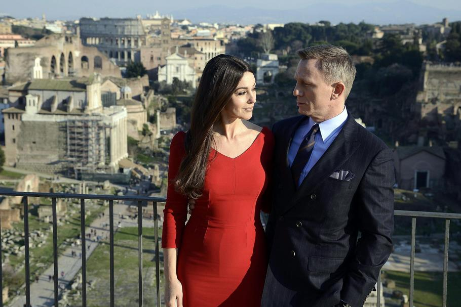 James Bond Rzym Daniel Craig Monica Belucci
