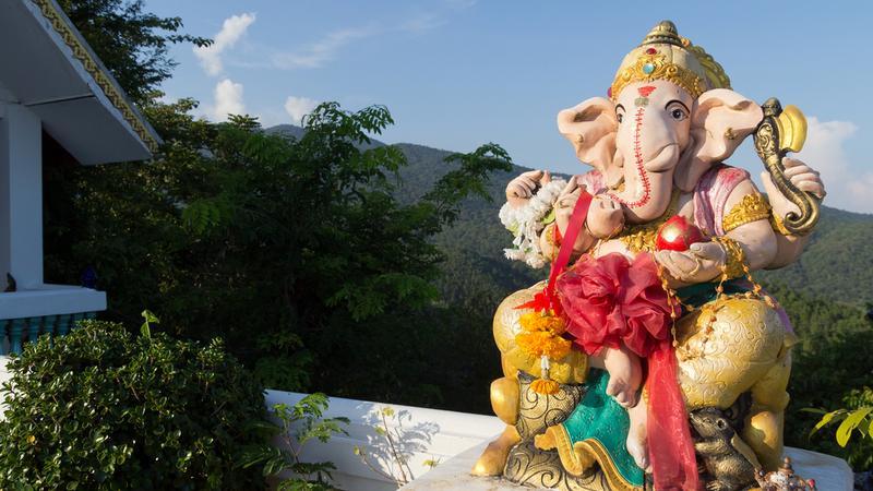 Pomnik boga Ganeshy