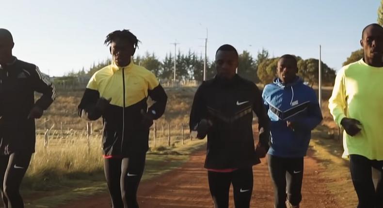 Team of duathlon athletes from Kibera