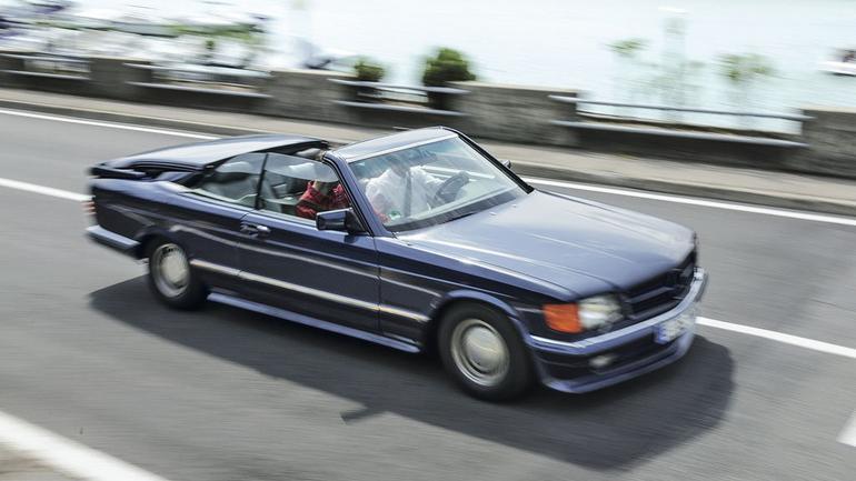 Stuningowane klasyki - Mercedes 500 SEC bb Magic Top