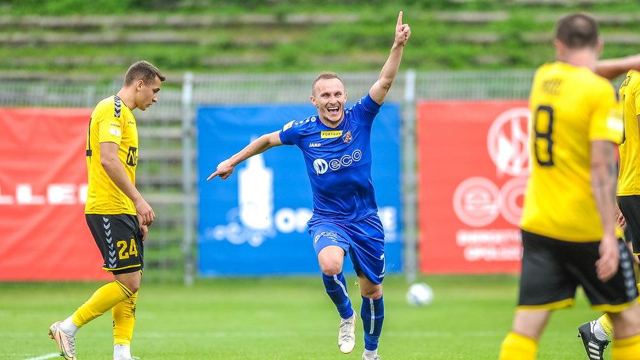 Piłkarze Odry Opole zaaplikowali beniaminkowi z Katowic aż cztery gole