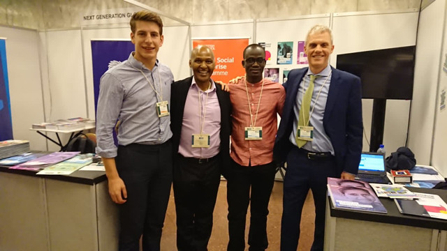 The British Council media at the SEWF 2019 from left Stephen Johnson, Waihenya Kabiru, Apollo Edewa and Adam Pillsbury. The British Council and Social Enterprise Ethiopia are the main strategic partners of SEWF 2019, the first one to be held in a developing country.