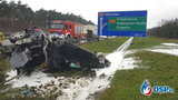Koszmar na A4. Rodzinne auto wypadło z drogi, nie żyje 6-letni chłopczyk