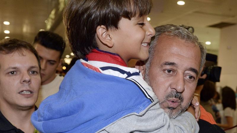 Osama Abdul Mohsen z synem
