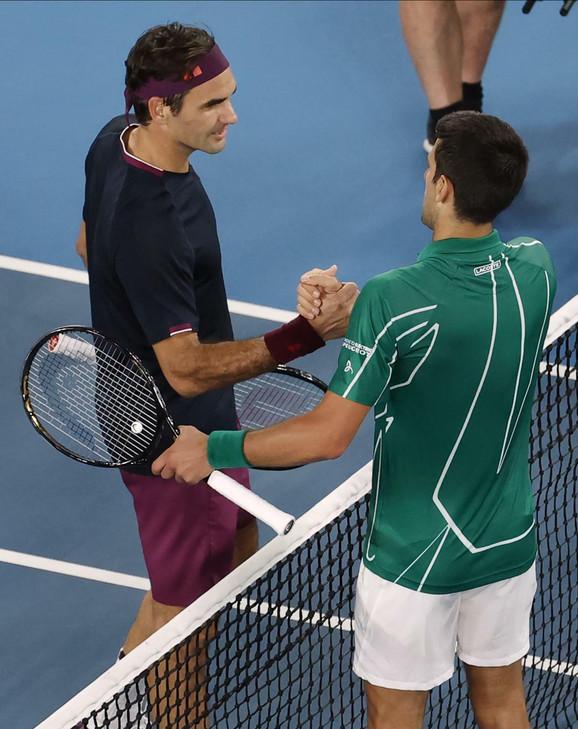 Rodžer Federer i Novak Đoković posle 50. međusobnog duela, ovoga puta u polufinalu Australijan opena