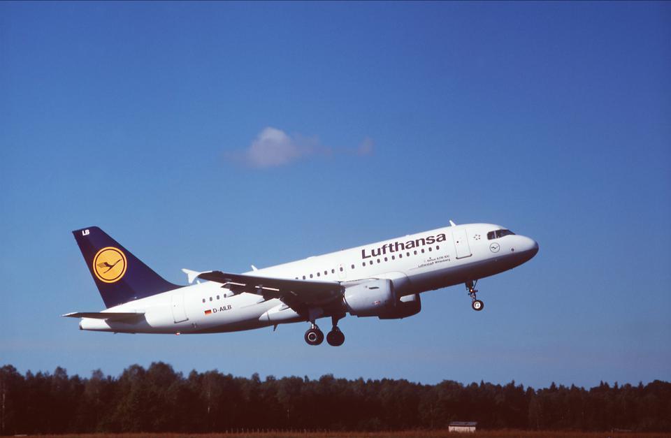 Airbus A319-100 w malowaniu Lufthansy obowiązującym od 1989 roku