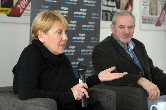 Gordana Suša i Milenko Vasović, profesor