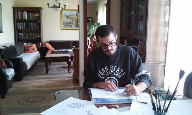 Amar Mulić crta anatomski atlas koji će pokloniti školi