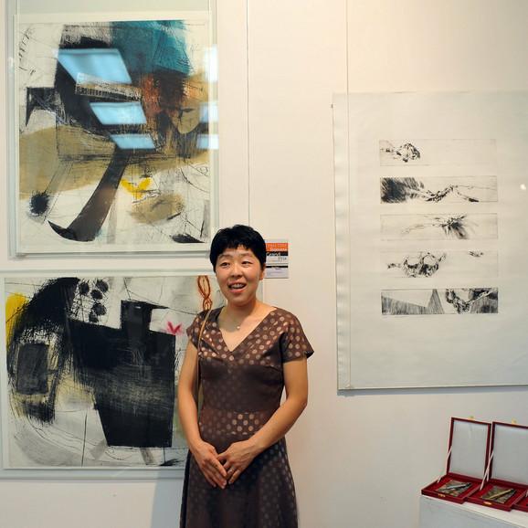 Noriko Saito učestvovala je sa dva rada pod nazivom