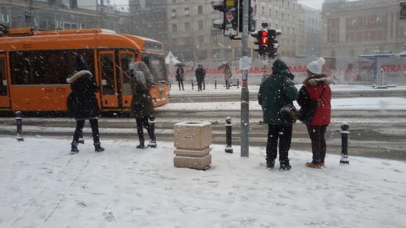 Zavejan i centar Beograda
