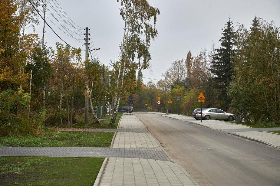 ulica Wyścigowa po remoncie