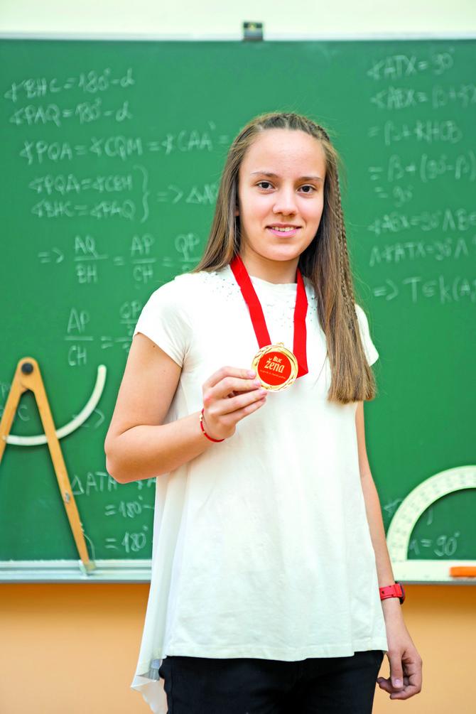 Pored matematike, uspešna je i u fizici, hemiji, informatici