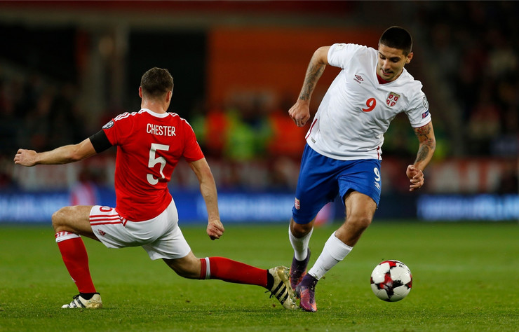 Fudbalska reprezentacija Srbije, Fudbalska reprezentacija Velsa