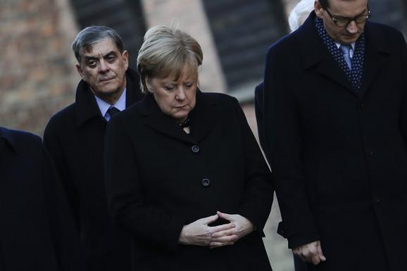 Angela Merkel u Aušvicu