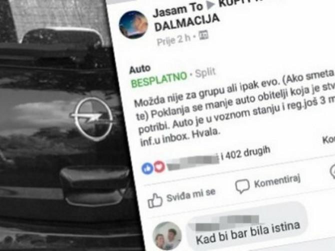 """""""Poklanja se manji auto porodici kojoj je stvarno potreban"""": Okačila je ovo na Fejs, a ono što se potom desilo VRATIĆE VAM VERU U LJUDE"""