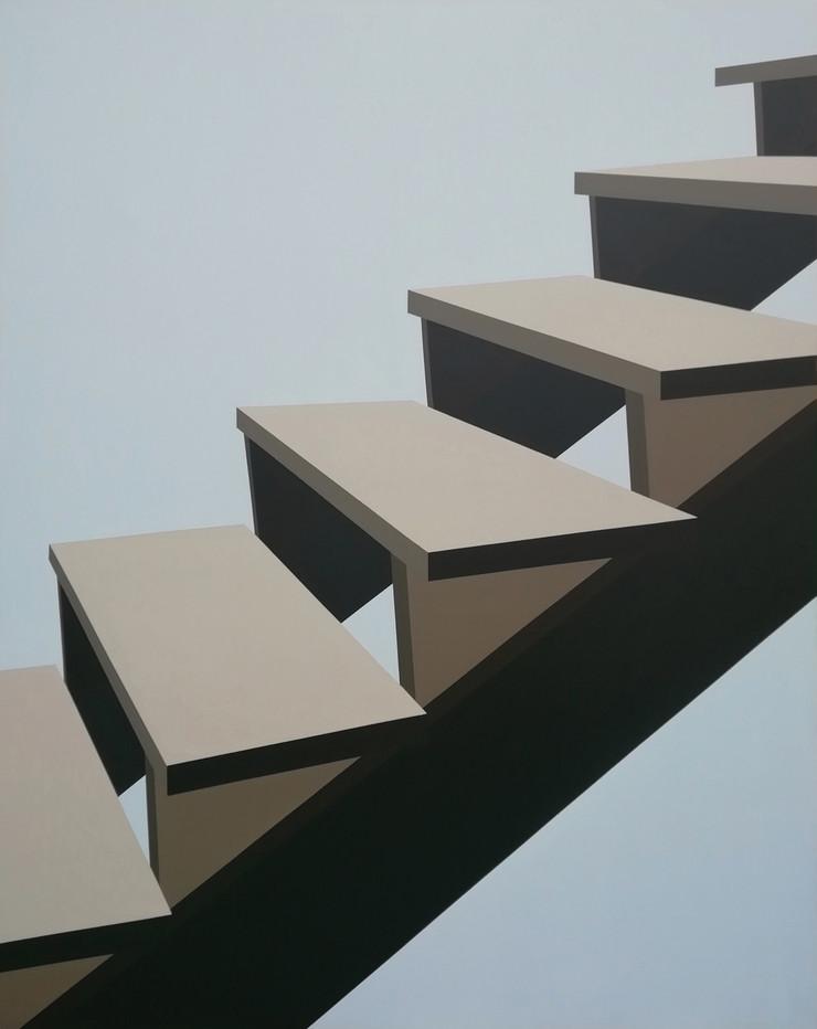 Mila Gvardiol, Stepenice6, akril na platnu, 140x110cm, 2020