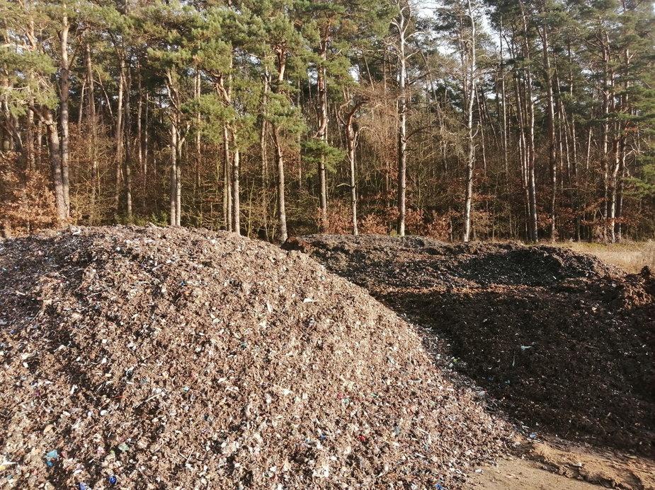 Odpady w lesie w okolicach Czartek