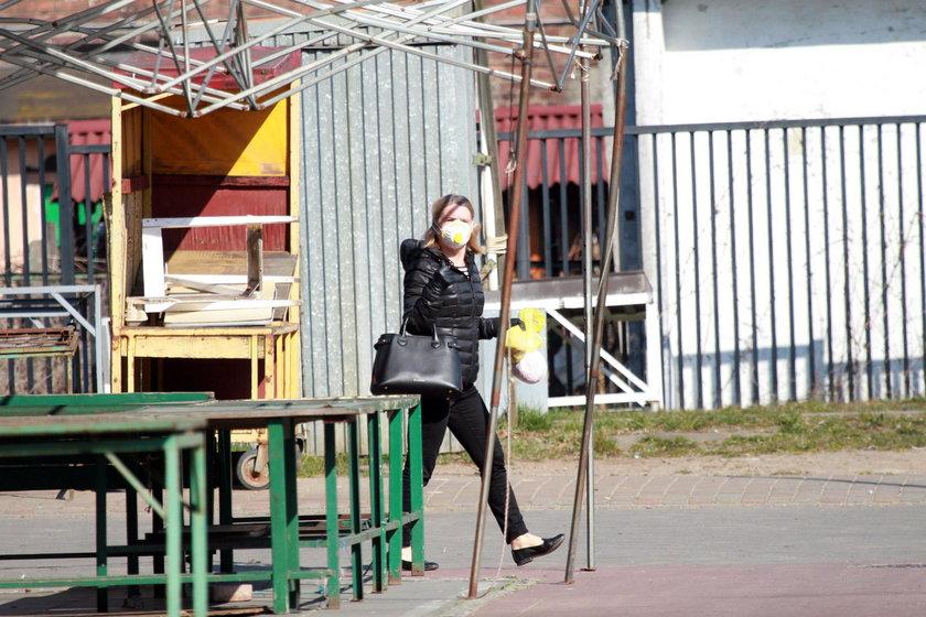 Małgorzata Tusk wybrała się na targowisko w maseczce