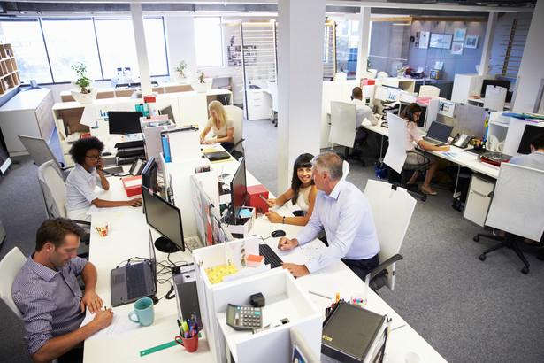 praca, biuro, open space