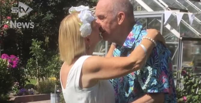 Bil i Ana na venčanju