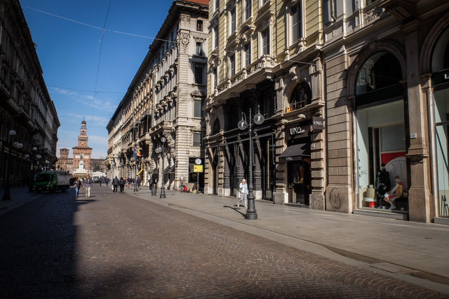 puste ulice Milana