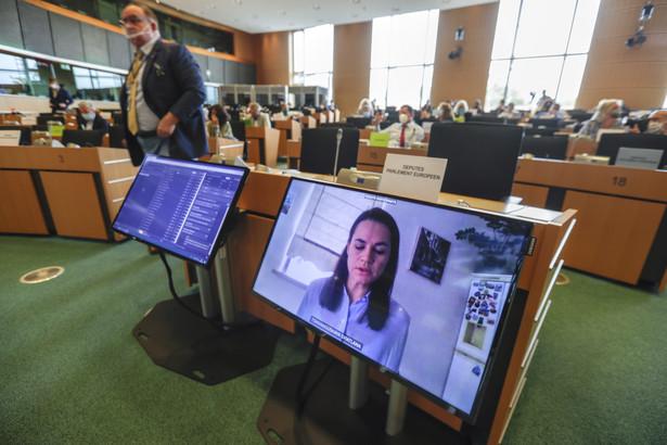Cichanouska w Parlamencie Europejskim