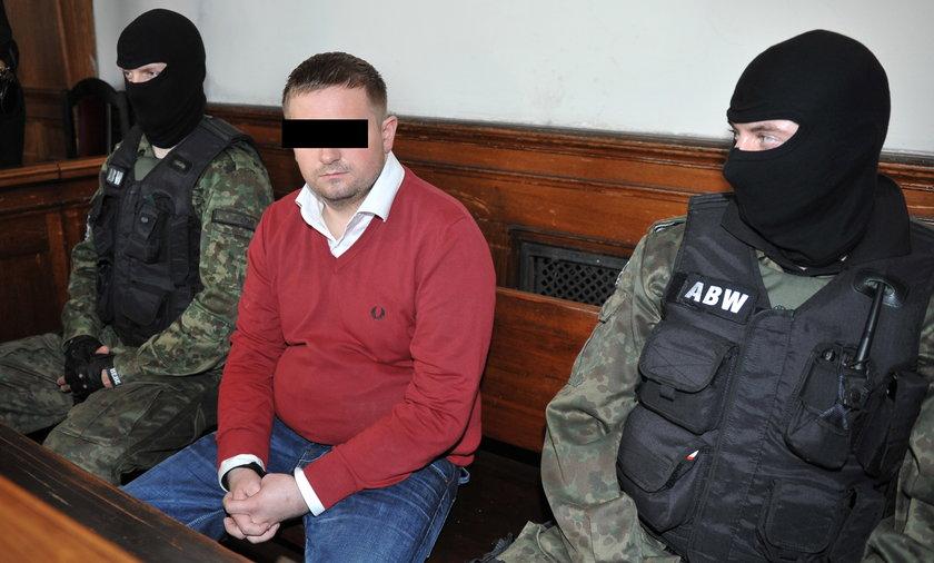 Marcin Plichta w trakcie odczytywania wyroku