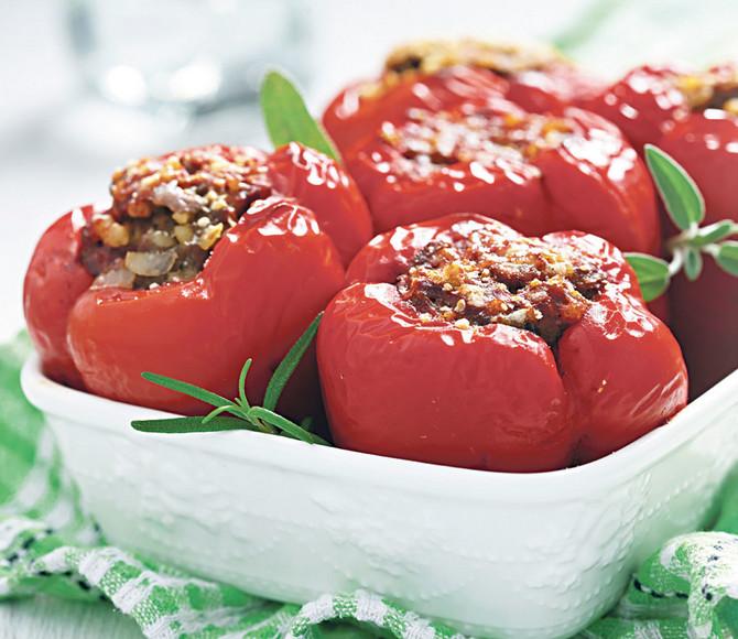 Brzi ručak, punjene paprike