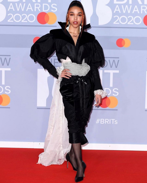 FKA Twigs at the 40th BRIT Awards Red Carpet [Instagram]