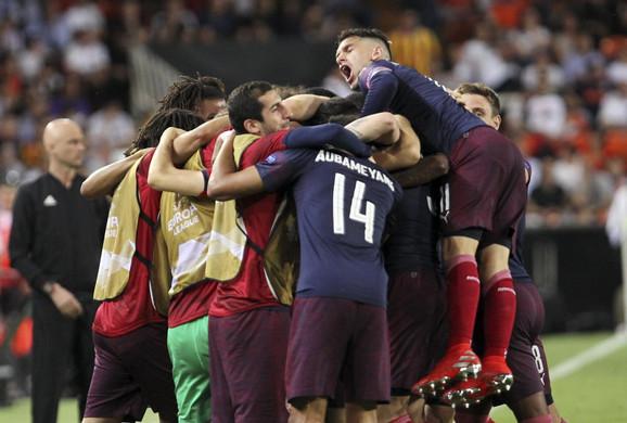 Radost fudbalera Arsenala