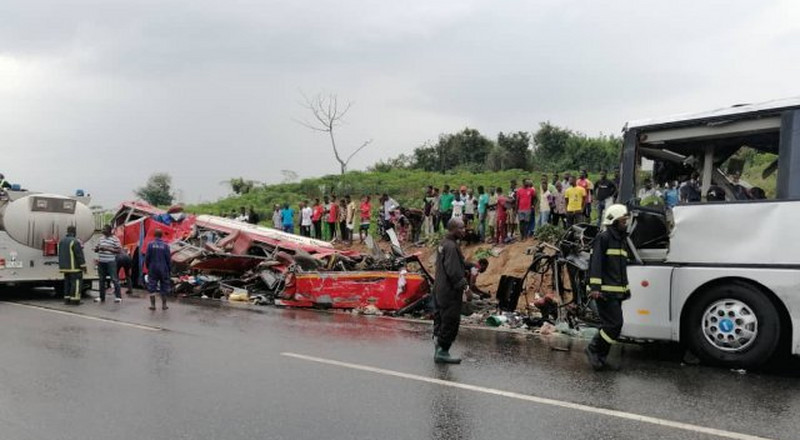 Accident on Cape Coast-Takoradi Highway claims 34 lives; many more injured