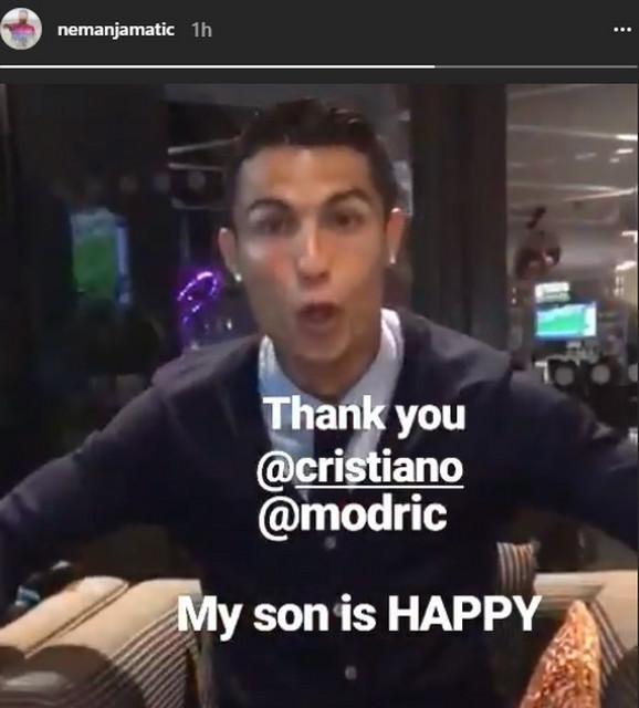 Kristijano Ronaldo je porukom oduševio Matićevog sina Filipa